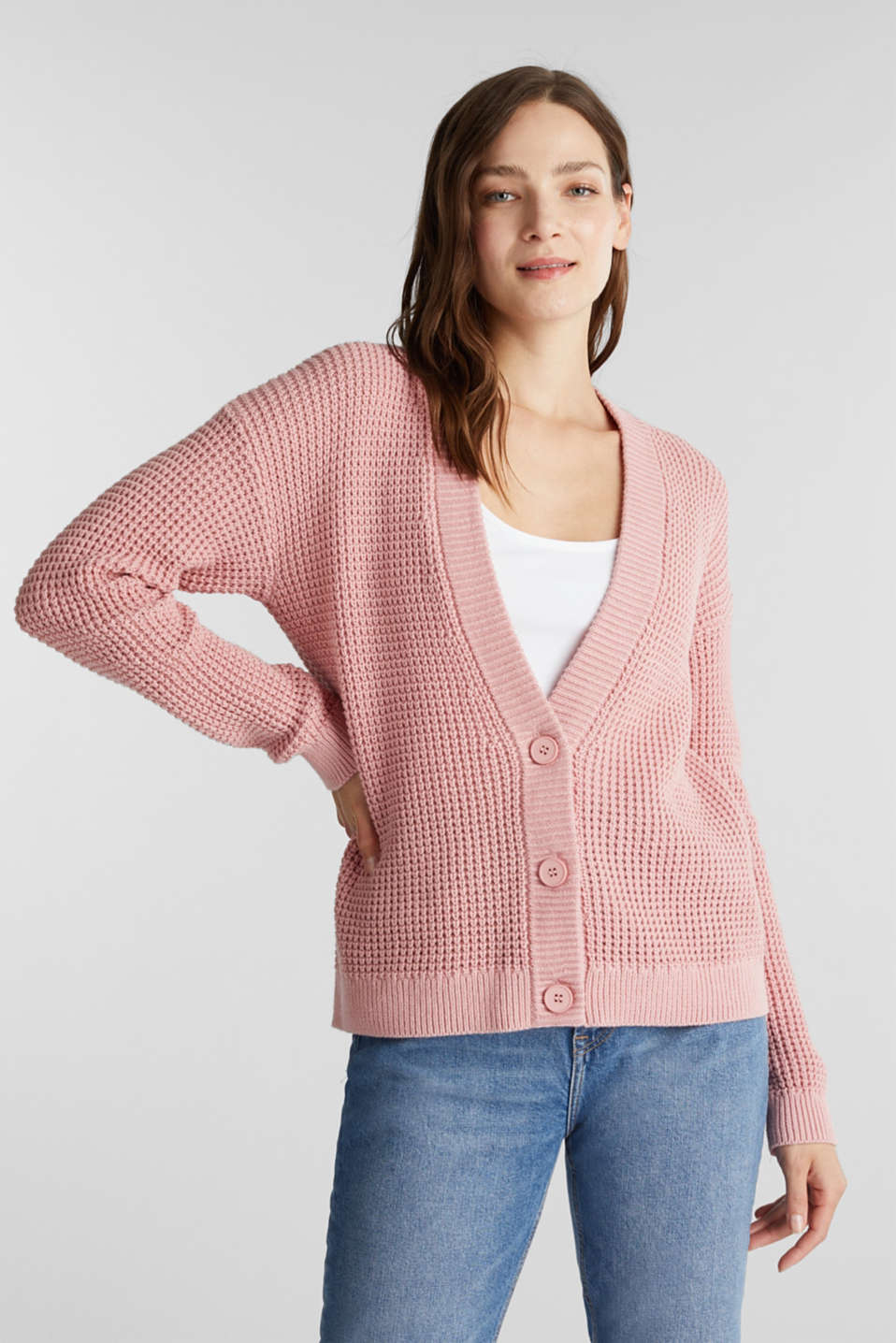 edc - Cardigan aus 100% Organic Cotton