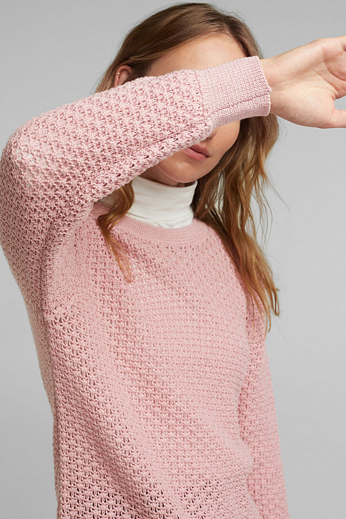 Jumper made of 100% organic cotton, PINK, detail image number 2