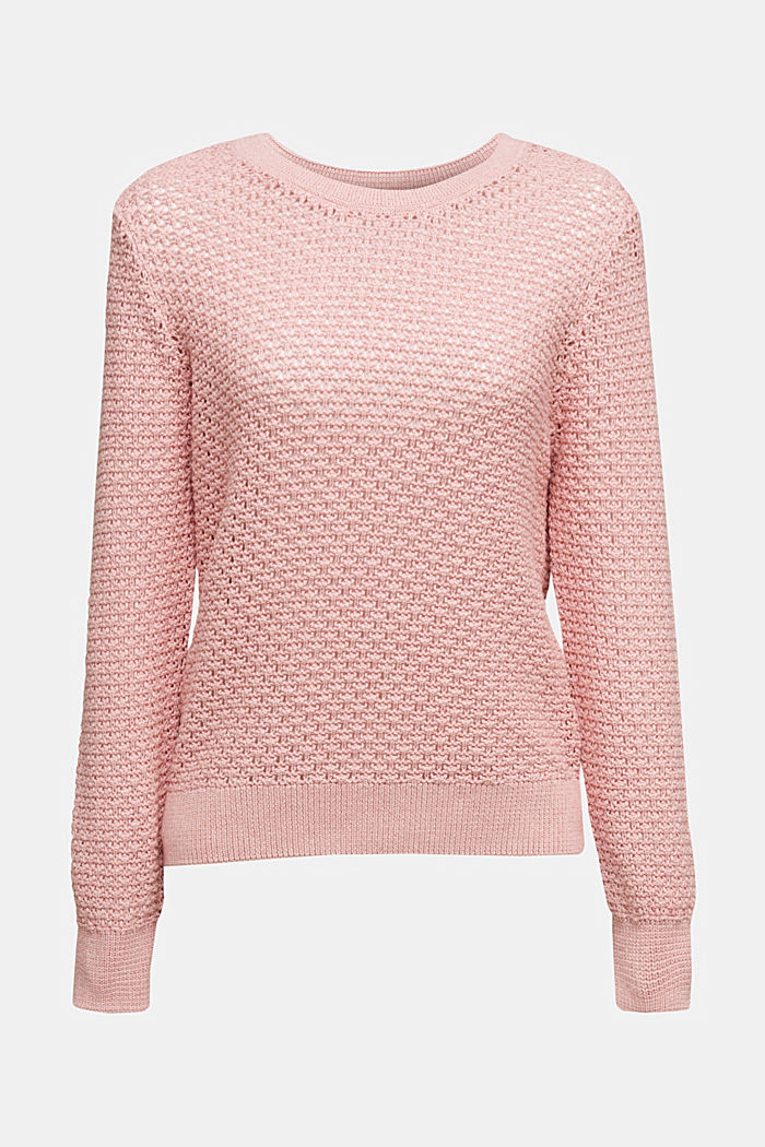 Jumper made of 100% organic cotton, PINK, detail image number 6