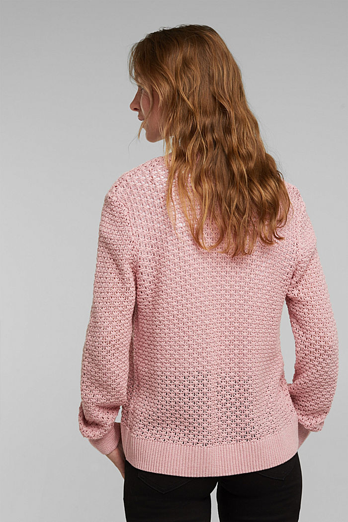 Cardigan made of 100% organic cotton, PINK, detail image number 3