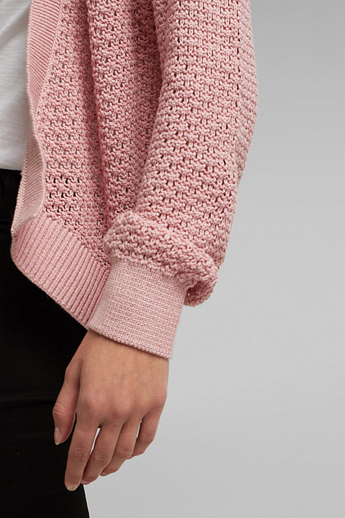 Cardigan made of 100% organic cotton, PINK, detail image number 2