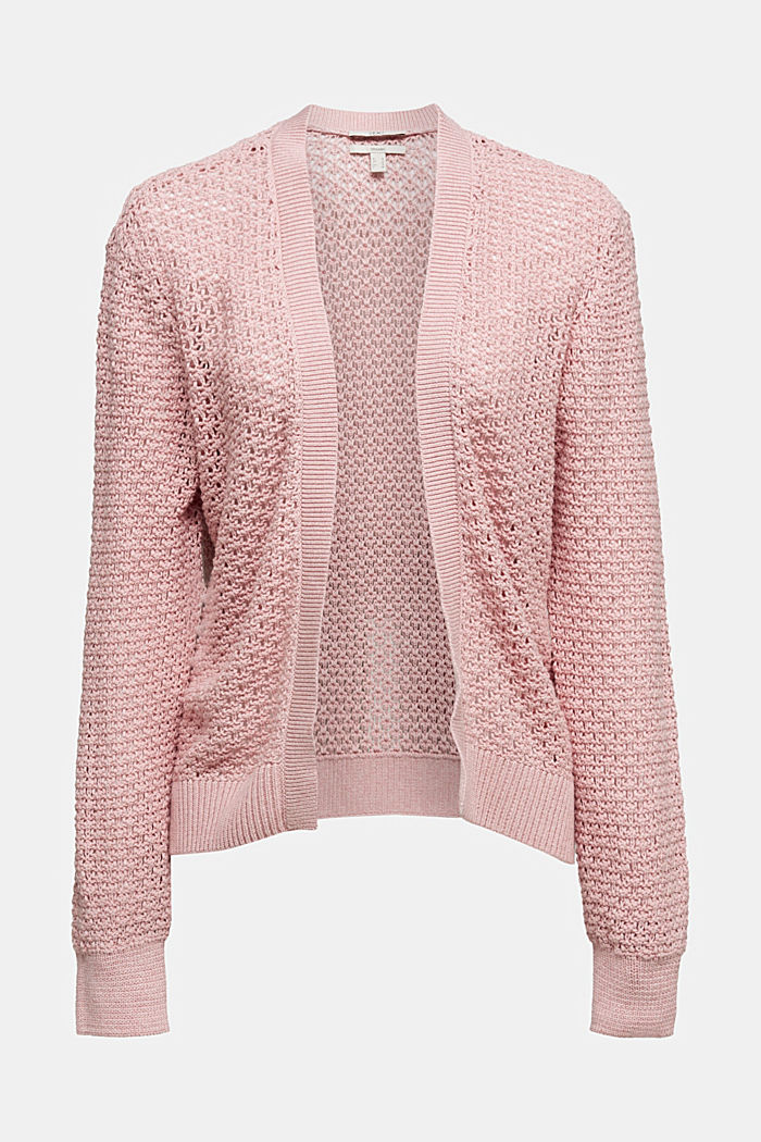 Cardigan made of 100% organic cotton, PINK, detail image number 5