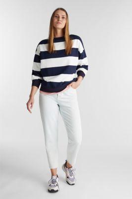 2-in-1 sweatshirt with organic cotton, NAVY, detail