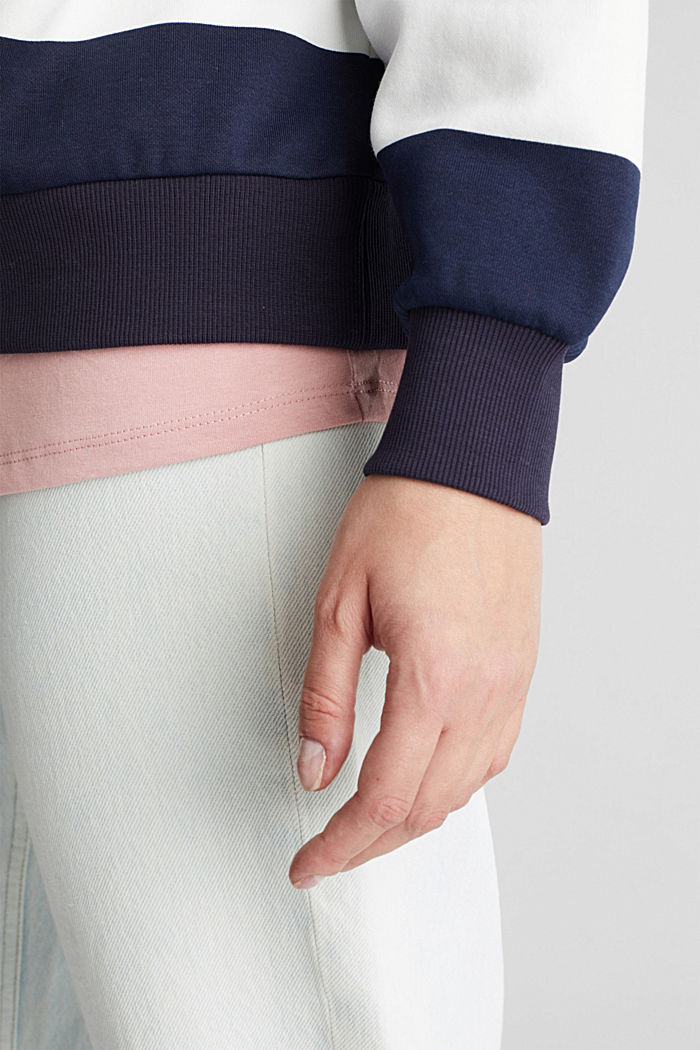 2-in-1 sweatshirt with organic cotton, NAVY, detail image number 2