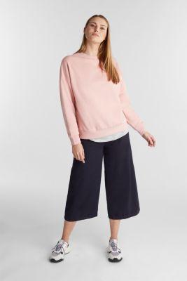 2-in-1 sweatshirt with organic cotton, PINK, detail
