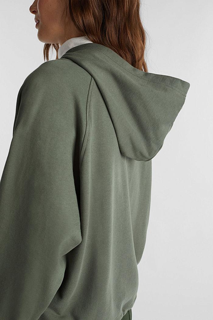 Hoodie made of 100% organic cotton, LIGHT KHAKI, detail image number 4