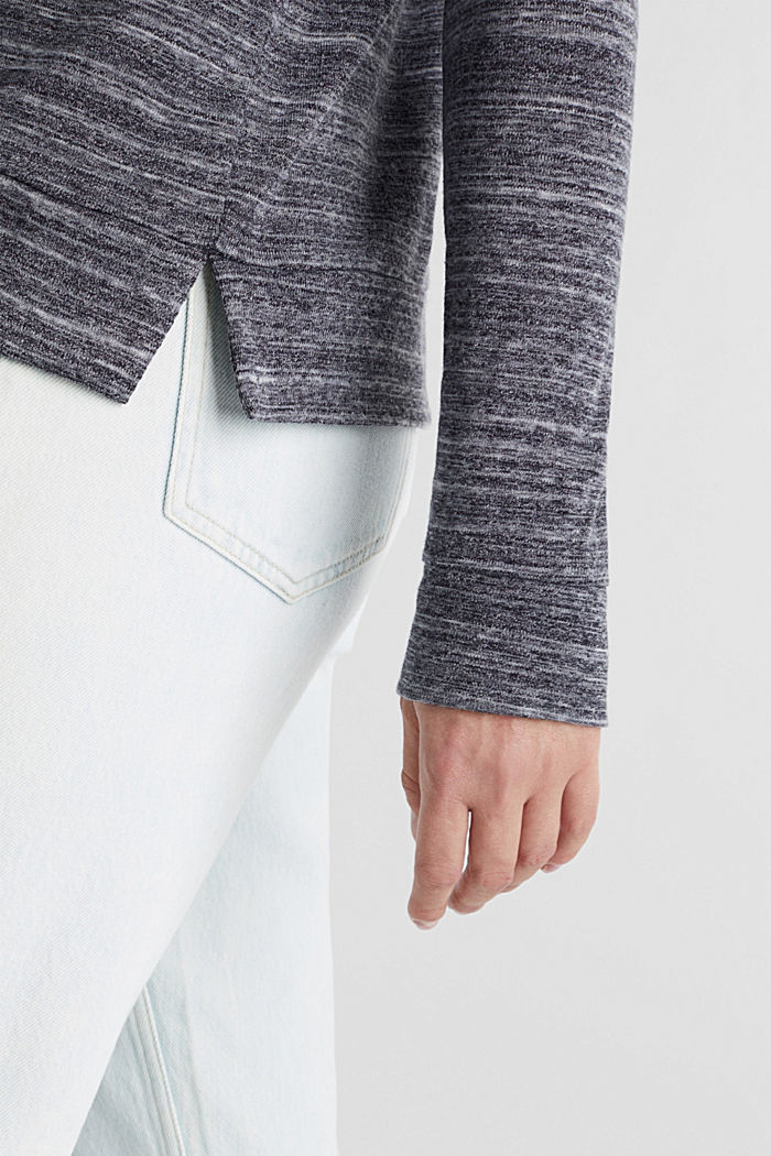 Recycled: hoodie containing organic cotton, NAVY, detail image number 2