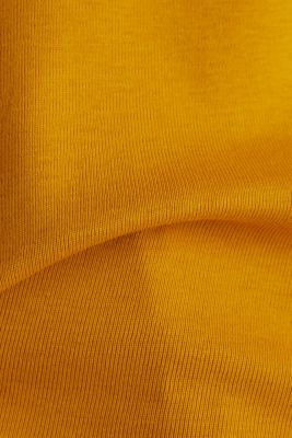 Long sleeve top made of 100% organic cotton, BRASS YELLOW, detail
