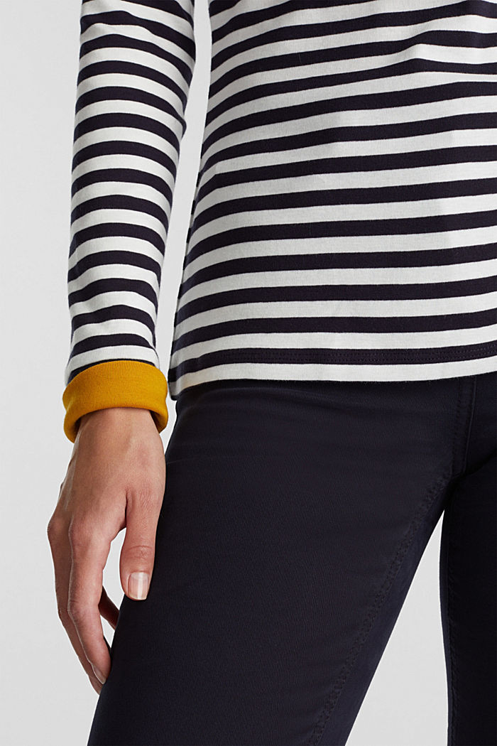 Long sleeve top made of 100% organic cotton, NAVY, detail image number 2