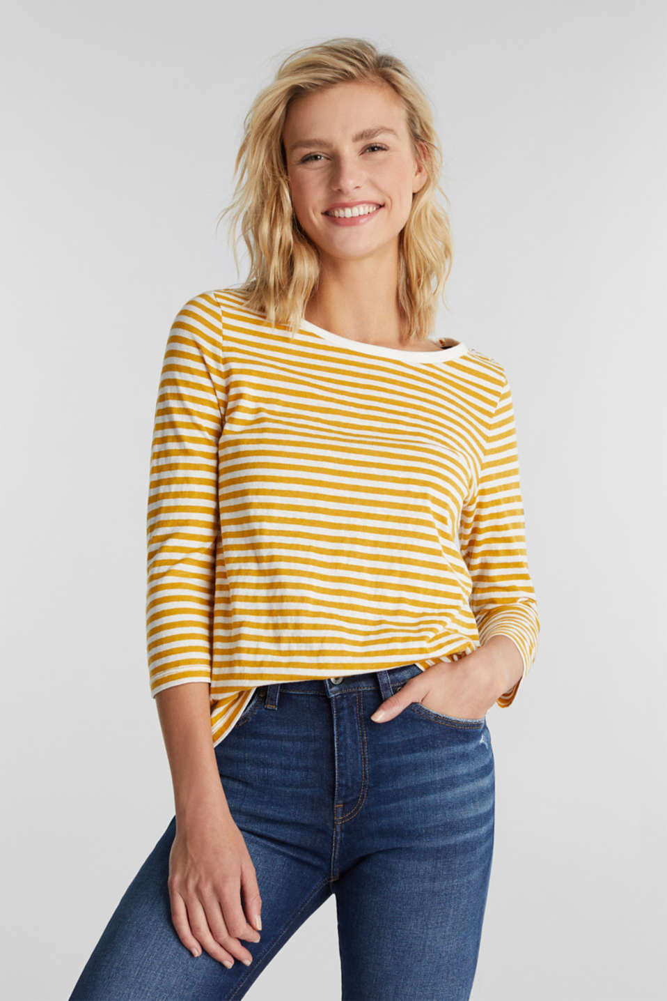 edc - Recycled: Long sleeve top with organic cotton