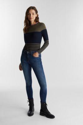 Long sleeve top with block stripes, LIGHT KHAKI, detail