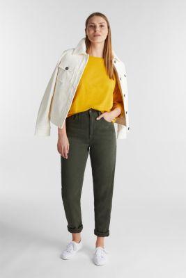 Long sleeve top made of 100% organic cotton, BRASS YELLOW 4, detail