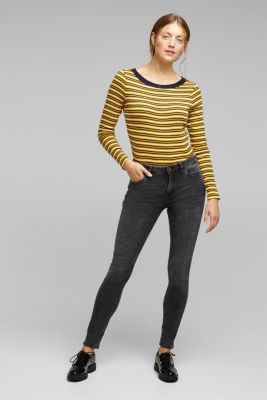Striped T-shirt in 100% organic cotton, NAVY, detail