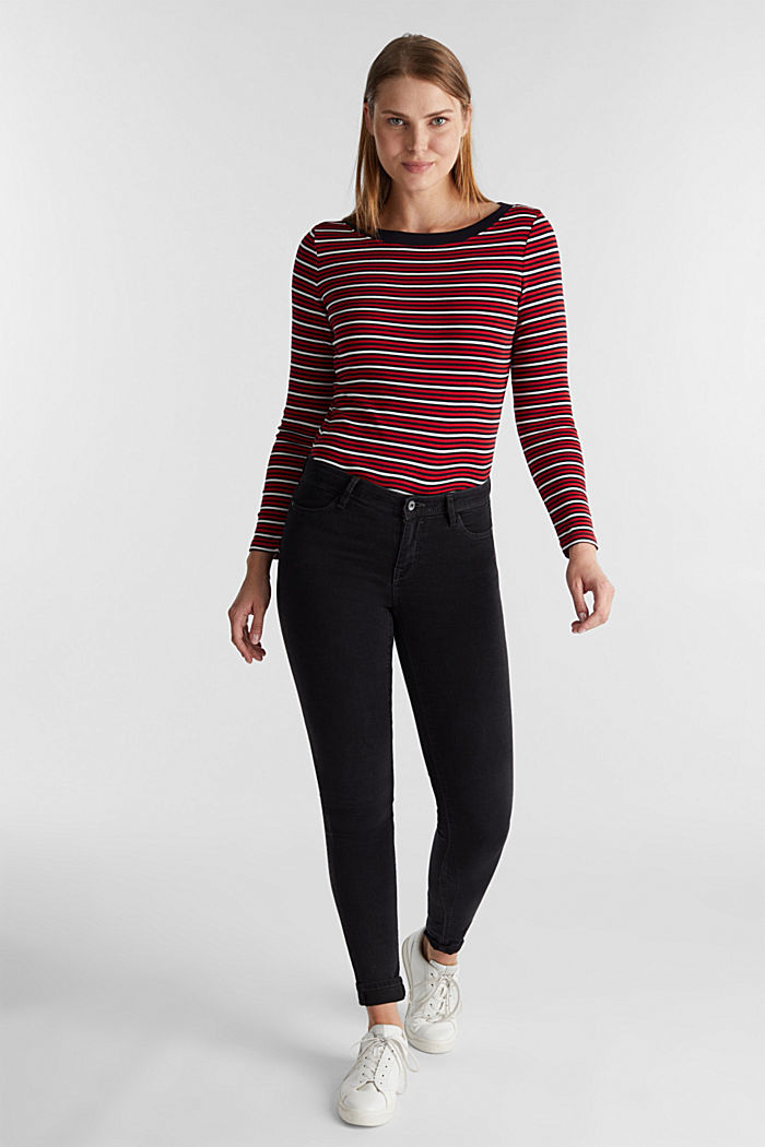 Striped T-shirt in 100% organic cotton, RED, detail image number 1