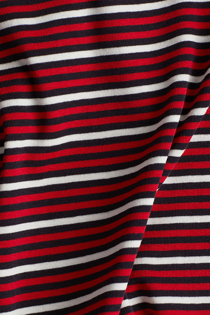Striped T-shirt in 100% organic cotton, RED, detail image number 4