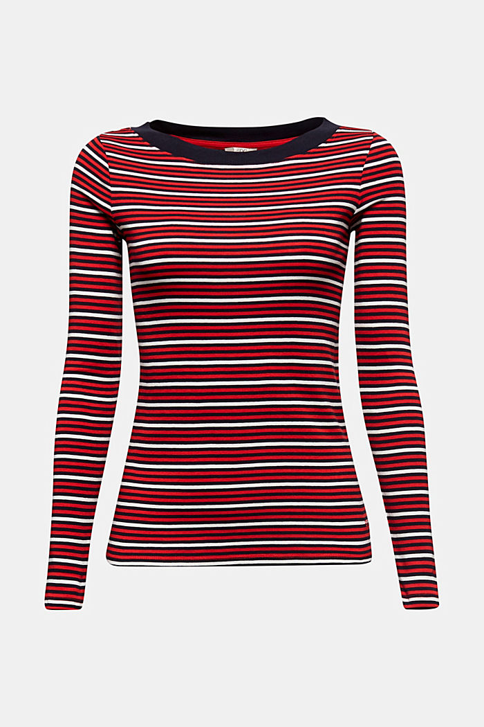Striped T-shirt in 100% organic cotton, RED, detail image number 6