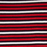Striped T-shirt in 100% organic cotton, RED, swatch