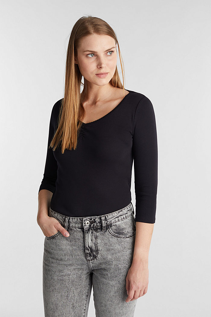 Jersey-Shirt aus 100% Organic Cotton, BLACK, detail image number 0