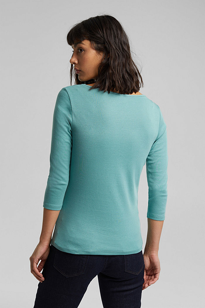 Jersey top made of 100% organic cotton, DUSTY GREEN, detail image number 3