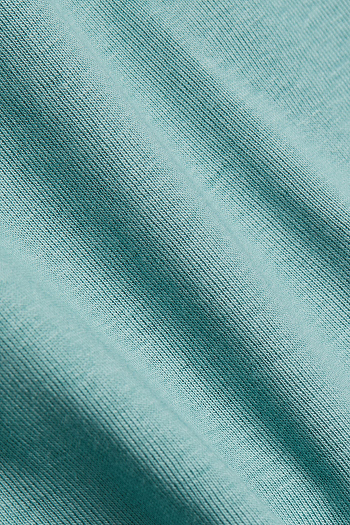 Jersey top made of 100% organic cotton, DUSTY GREEN, detail image number 4