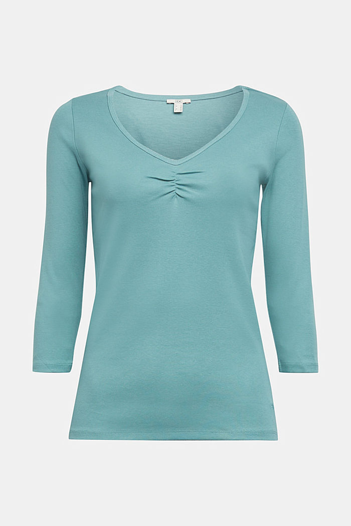 Jersey top made of 100% organic cotton, DUSTY GREEN, detail image number 5