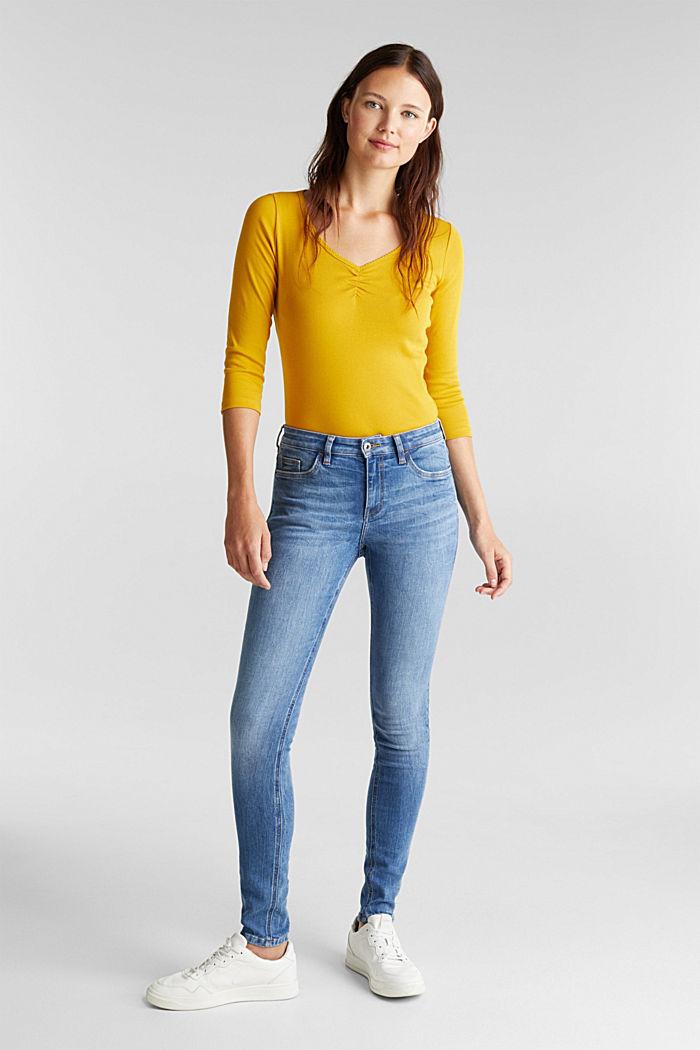 Jersey-Shirt aus 100% Organic Cotton, BRASS YELLOW, detail image number 1