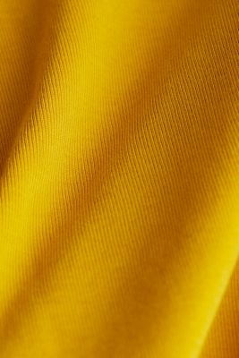 Jersey top made of 100% organic cotton, BRASS YELLOW 4, detail