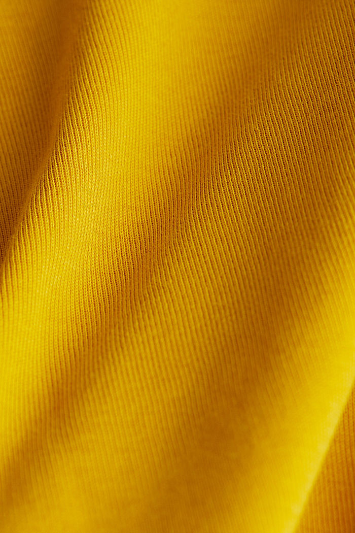 Jersey top made of 100% organic cotton, BRASS YELLOW, detail image number 4