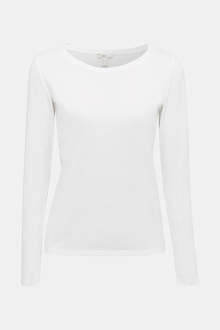Recycled: Long sleeve top with organic cotton, OFF WHITE, detail image number 7