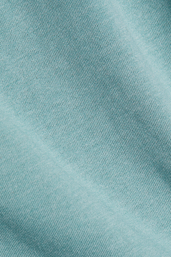 Recycelt: Longsleeve mit Organic Cotton, DUSTY GREEN, detail image number 4