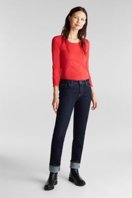 Recycled: Long sleeve top with organic cotton, RED, detail