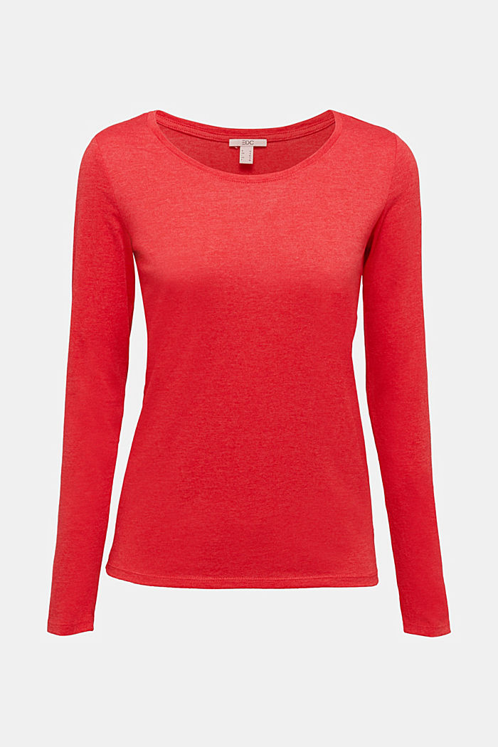 Recycled: Long sleeve top with organic cotton, RED, detail image number 5