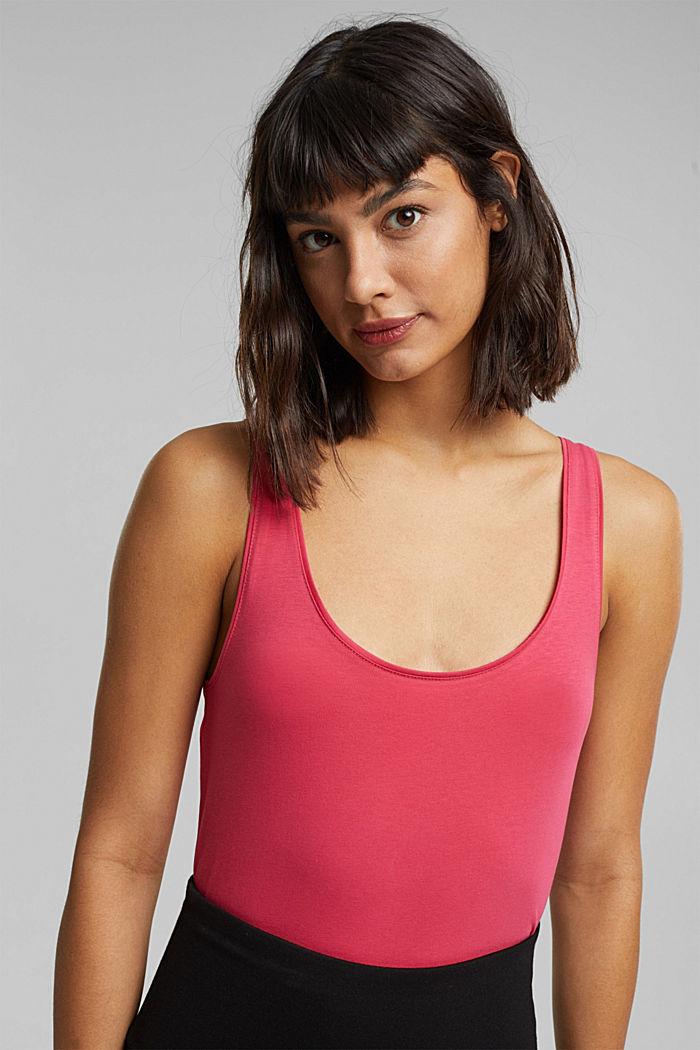 Organic cotton sleeveless top, BLUSH, detail image number 5