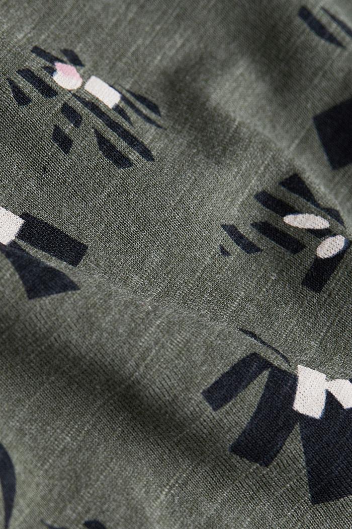 Recycled: T-shirt containing organic cotton, LIGHT KHAKI, detail image number 4