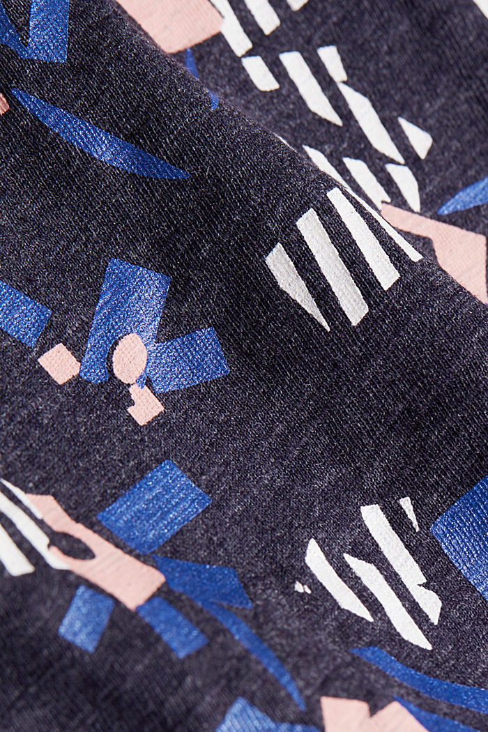 Recycled: T-shirt containing organic cotton, NAVY, detail image number 4