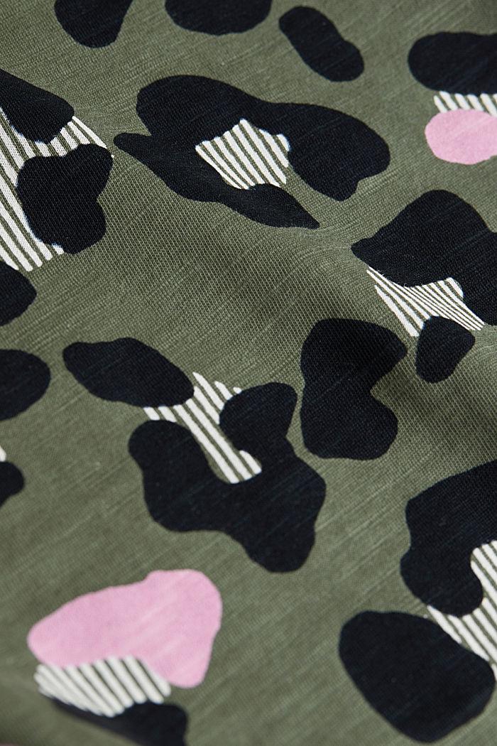 Printed T-shirt in 100% organic cotton, LIGHT KHAKI, detail image number 4