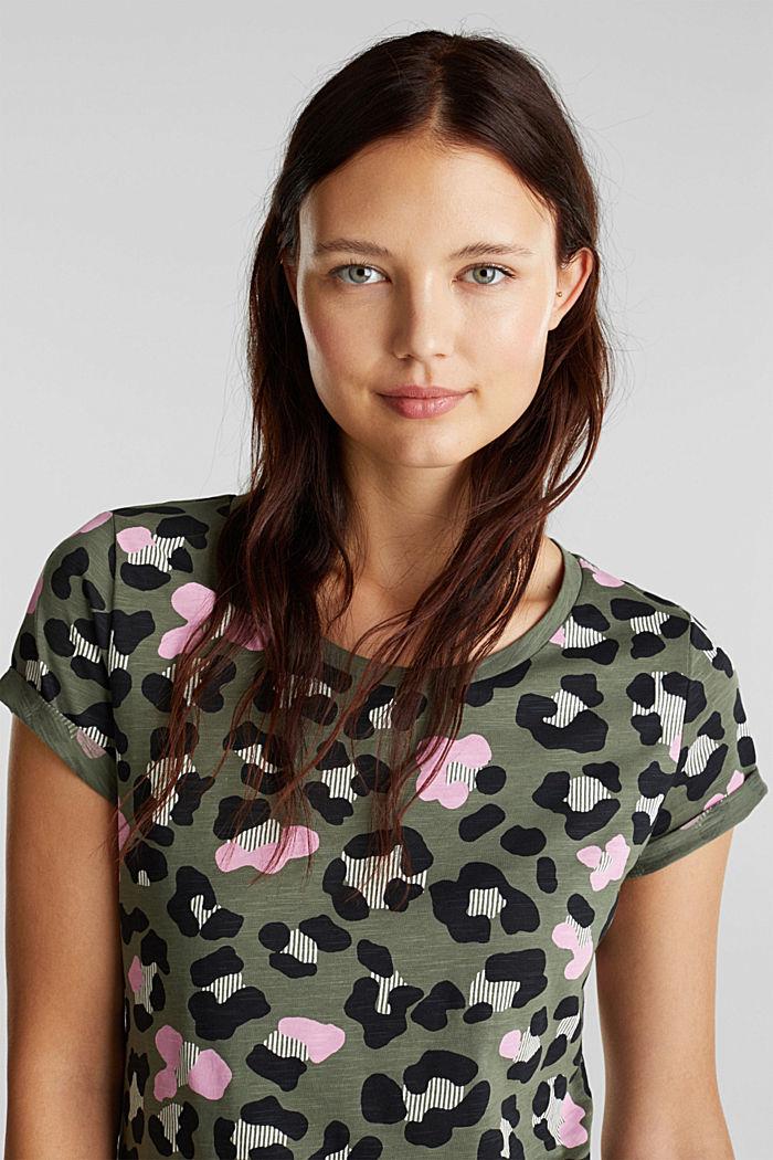 Printed T-shirt in 100% organic cotton, LIGHT KHAKI, detail image number 6