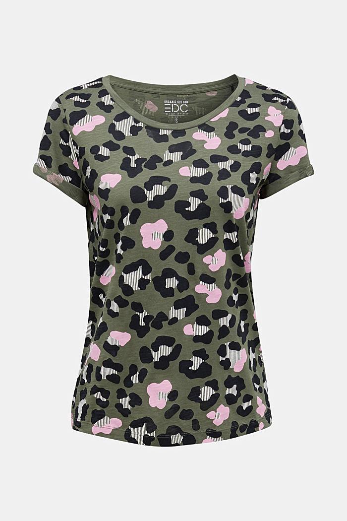 Printed T-shirt in 100% organic cotton, LIGHT KHAKI, detail image number 7