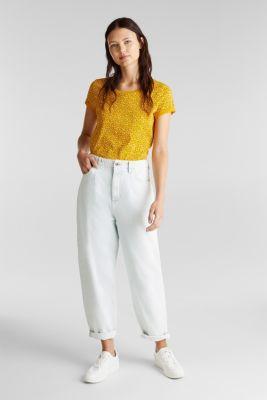 Printed T-shirt in 100% organic cotton, BRASS YELLOW, detail