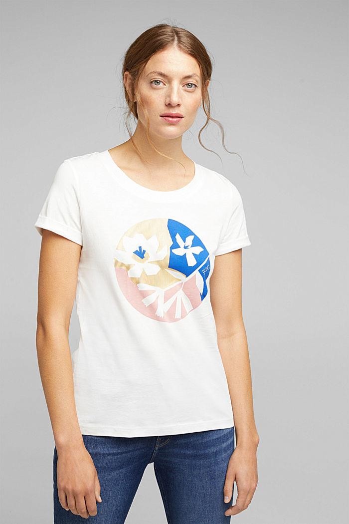 Print T-shirt in 100% organic cotton