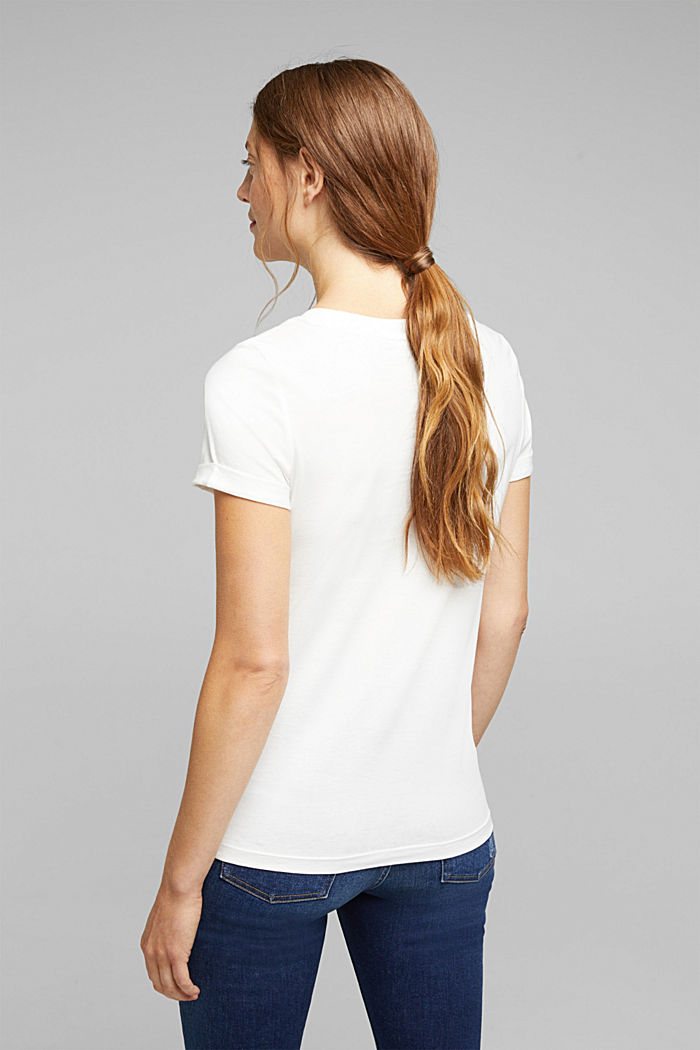 Print T-shirt in 100% organic cotton, OFF WHITE, detail image number 3