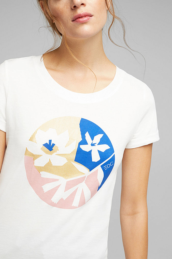 Print T-shirt in 100% organic cotton, OFF WHITE, detail image number 2