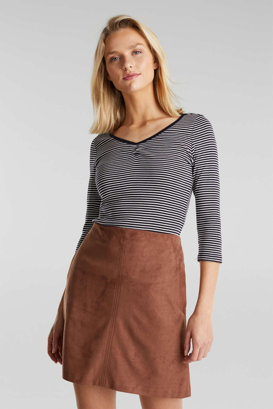 edc - Striped top, 100% organic cotton