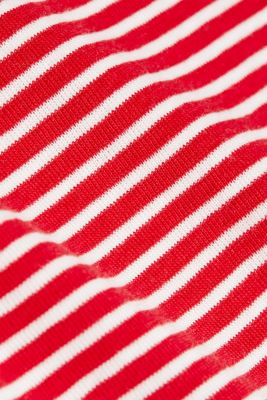 Striped top, 100% organic cotton, RED, detail