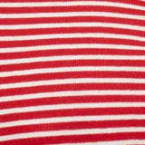 Striped top, 100% organic cotton, RED, swatch