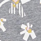Printed T-shirt with organic cotton, GUNMETAL 5, swatch