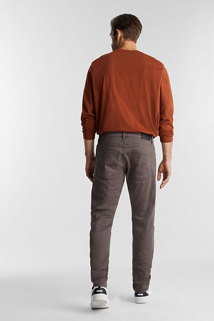 Stretch cotton trousers, DARK GREY, detail image number 3