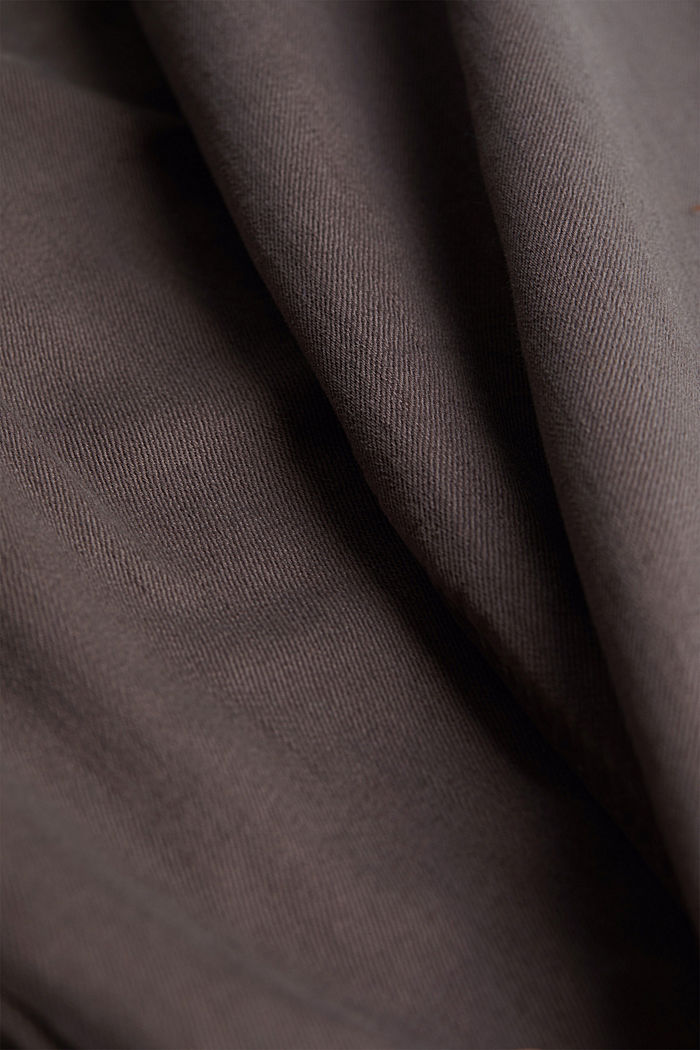 Stretch cotton trousers, DARK GREY, detail image number 4