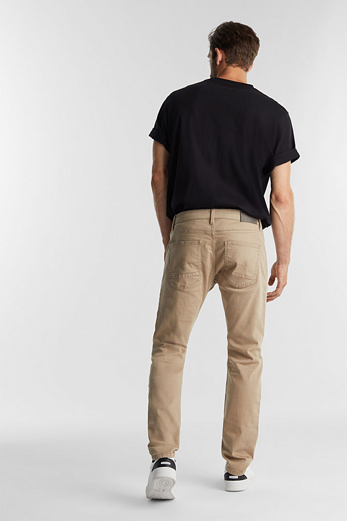 Stretch cotton trousers, LIGHT BEIGE, detail image number 3