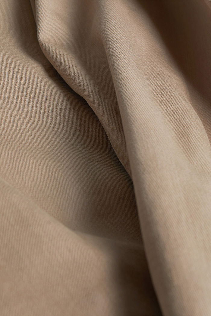 Stretch cotton trousers, LIGHT BEIGE, detail image number 4